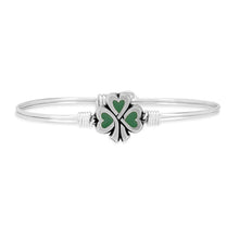 Load image into Gallery viewer, Lucky Shamrock Bangle Bracelet