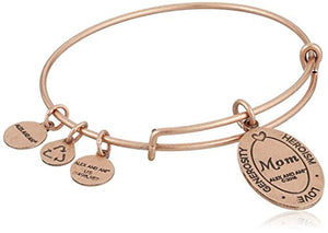 Alex and Ani Because I love you, Mom II rose gold