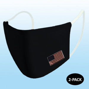 2 Pack adult Polyester soft 2 layer mask