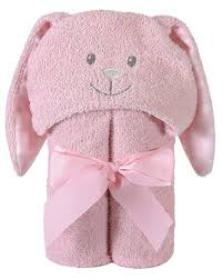 Pink Bunny Hooded Towel