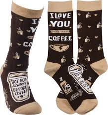 Socks - I Love You More Than Coffee