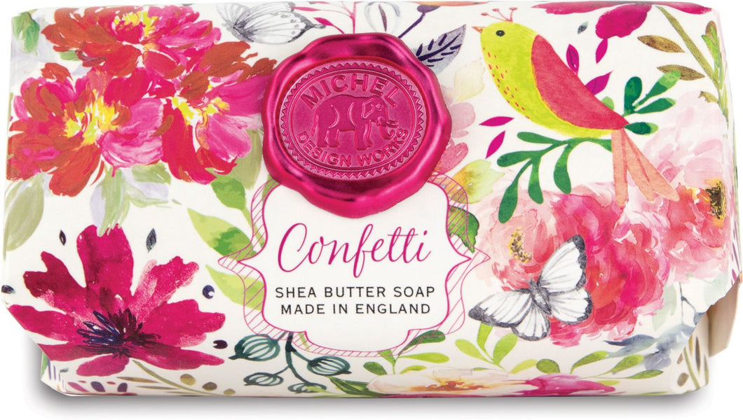 CONFETTI LARGE BATH SOAP BAR