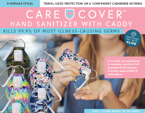 Hand sanitzer with carrying caddy