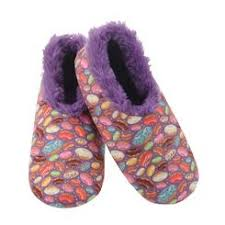 Snoozies Furry Slippers Donuts