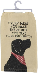 Every Bite I'll Be Watching You Cotton Dish Towel