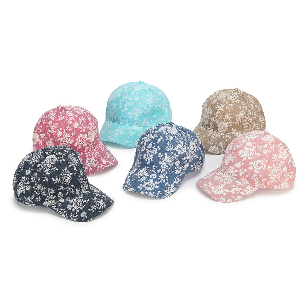 Floral Baseball Hat - adjustable