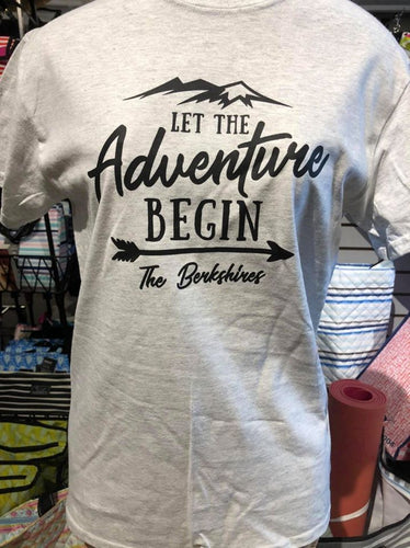 Let the Adventure Begin Berkshire Tee Grey Crew