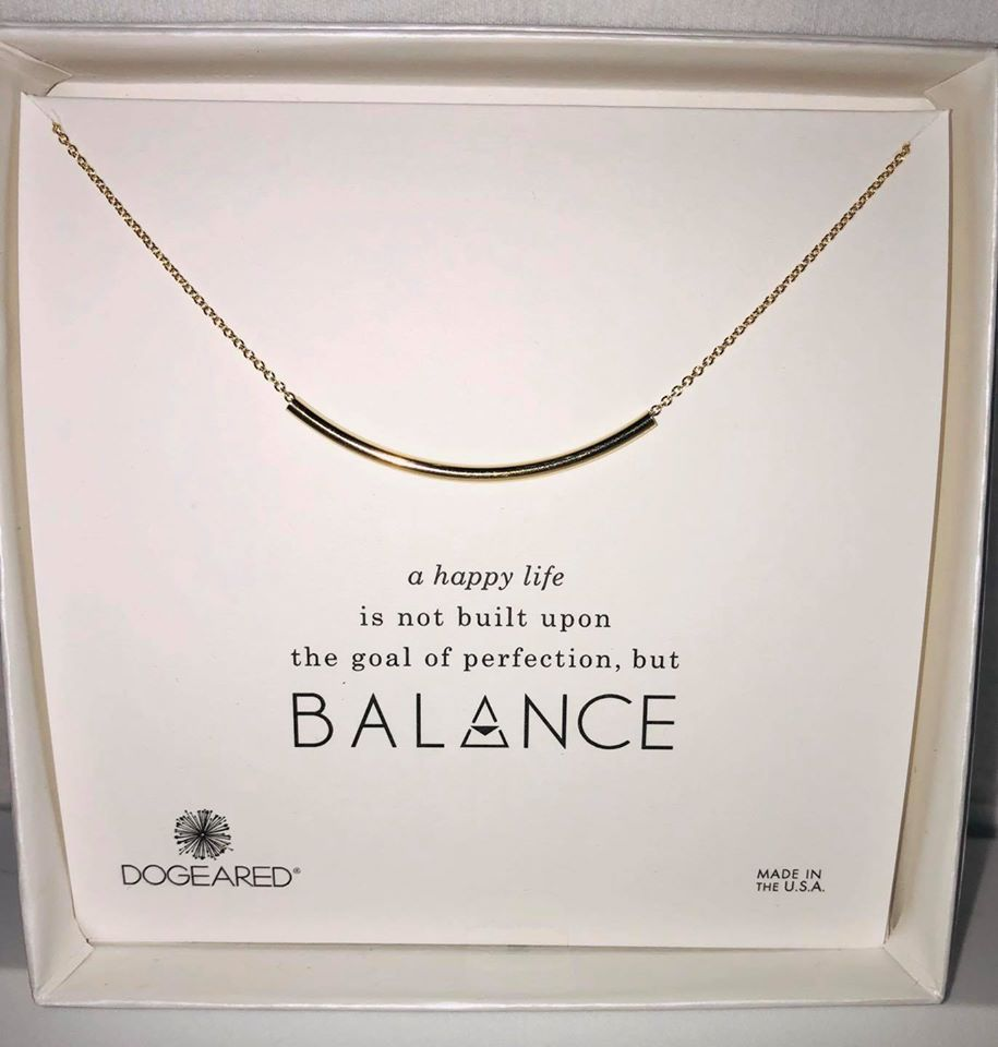 Gold Balance Bar Necklace