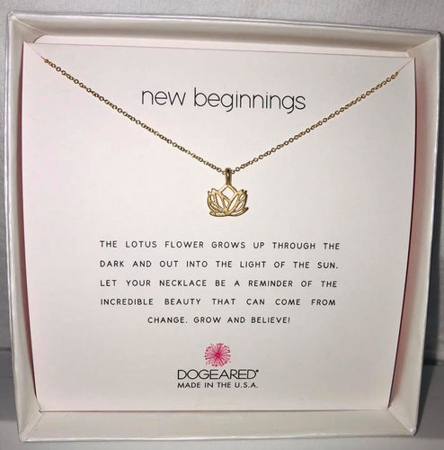 Dogeared New Beginnings Lotus Gold Necklace