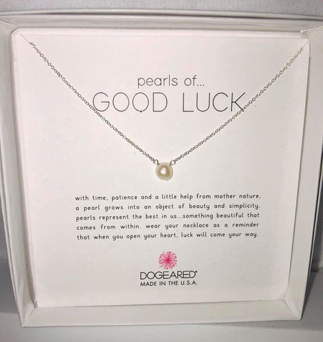 Dogeared Silver Pearls of Good Luck