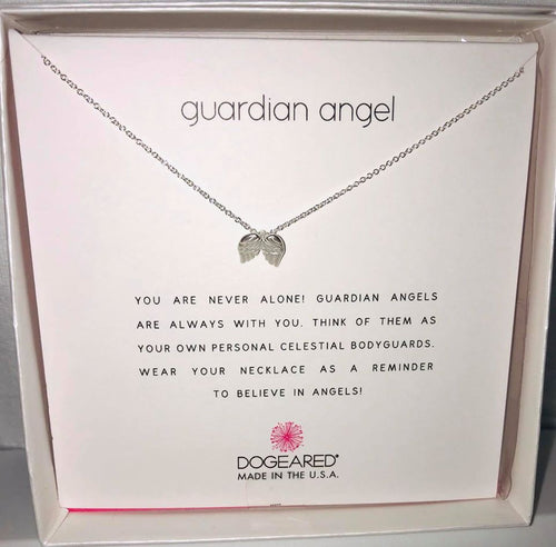 Dogeared Sterling Silver Guardian Angel Necklace