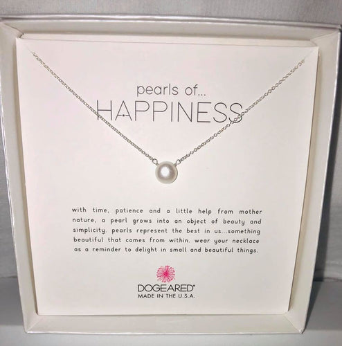 Sterling Silver Pearls of Happiness Necklace