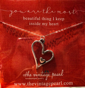 You are the most beautiful thing I keep inside my heart necklace