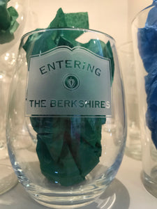 Stemless wine glass Entering the Berkshires set of 4
