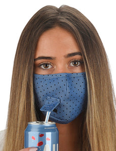 Snoozies Face Mask with Sip Straw Hole