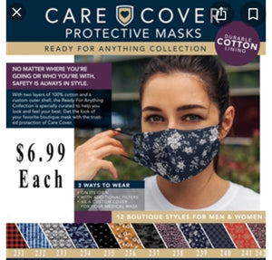 Care Cover Protective Mask with adjustable ear straps
