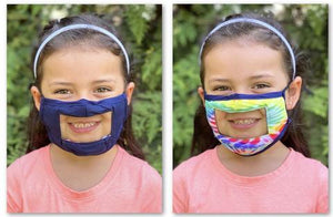Kids Smile Mask with clear mouth area