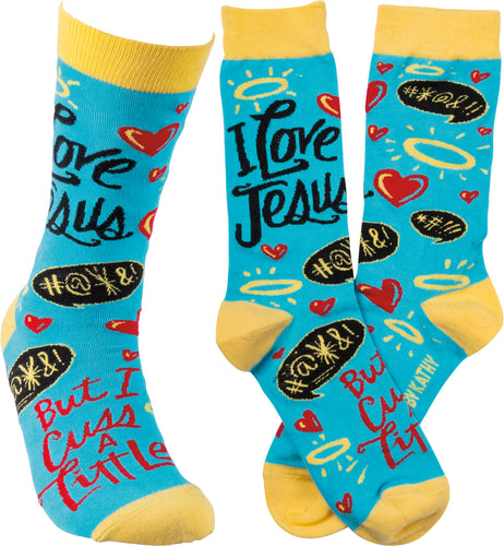 Socks - I Love Jesus But I Cuss A Little