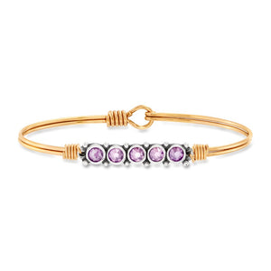 June Birthstone Bangle Bracelet