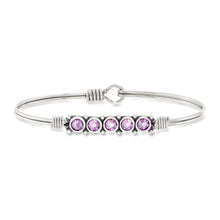 Load image into Gallery viewer, June Birthstone Bangle Bracelet