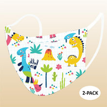 Load image into Gallery viewer, 2 Pack Kids reusable washable Kids Masks