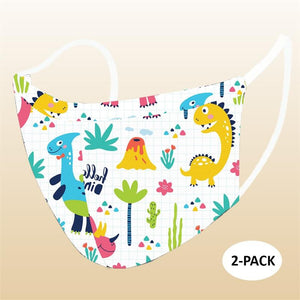 2 Pack Kids reusable washable Kids Masks