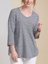 Load image into Gallery viewer, Women's White Caps Pocket Swing Tunic
