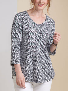 Women's White Caps Pocket Swing Tunic