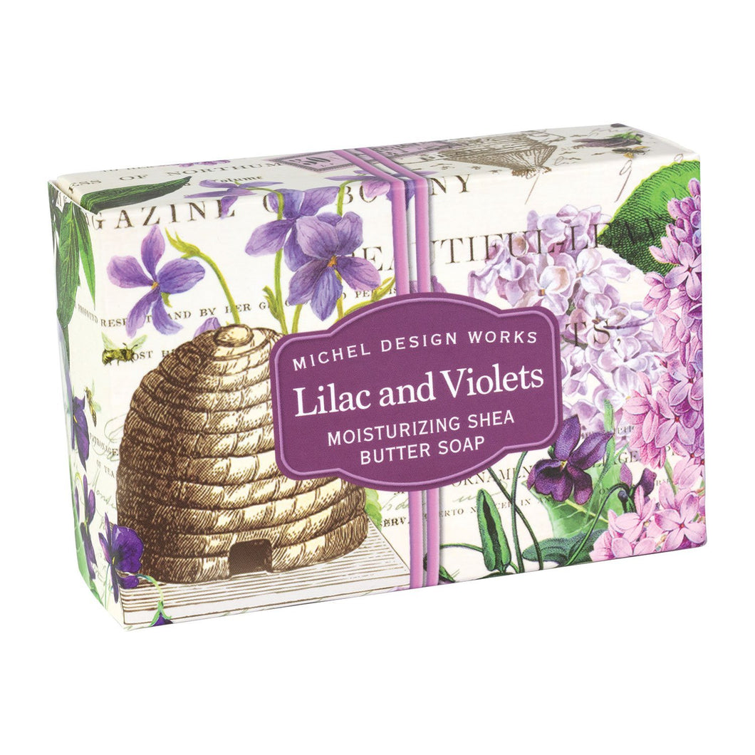 Lilac and Violets Boxed Single Soap