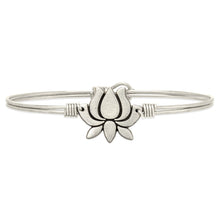 Load image into Gallery viewer, Lotus Flower Bangle Bracelet
