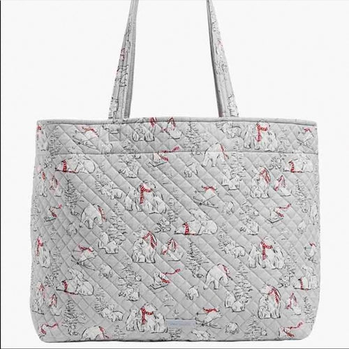 VERA BRADLEY ICONIC GRAND TOTE - BEARY MERRY