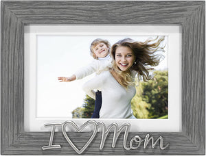 Grey I love MOM Frame 4x6