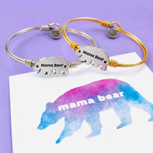 Load image into Gallery viewer, Mama Bear Bangle Bracelet