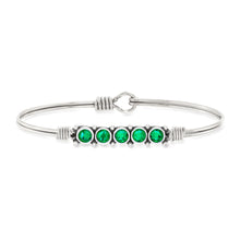 Load image into Gallery viewer, May Birthstone Bangle Bracelet