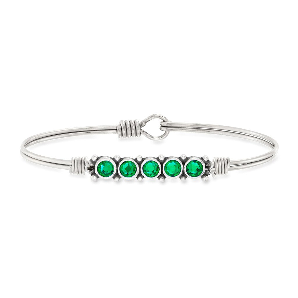 May Birthstone Bangle Bracelet