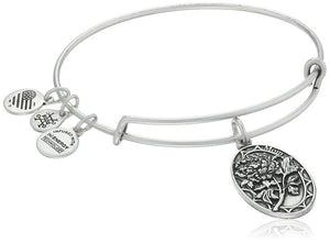 Alex and Ani Because I love you, Mom II Expandable Rafaelian Silver Bracelet