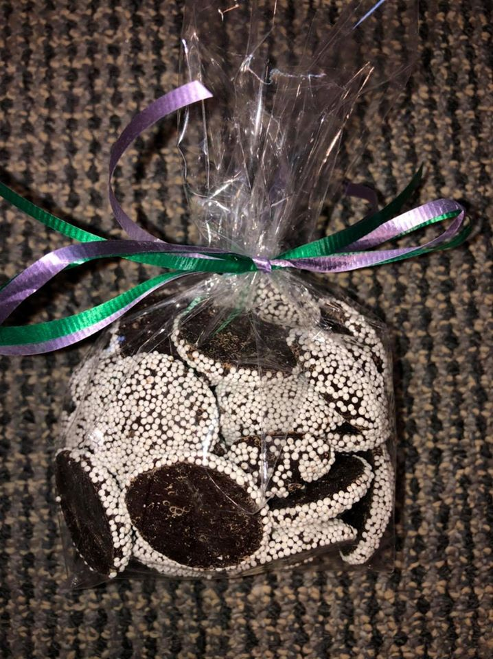 Dark Chocolate non-pareils 1/2 lb bag