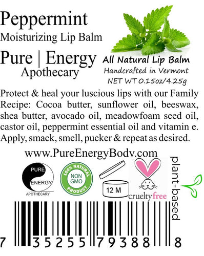 Pure Energy Apothecary Peppermint Lip Balm