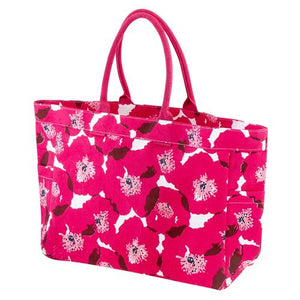Pink Poppy Canvas Tote Bag