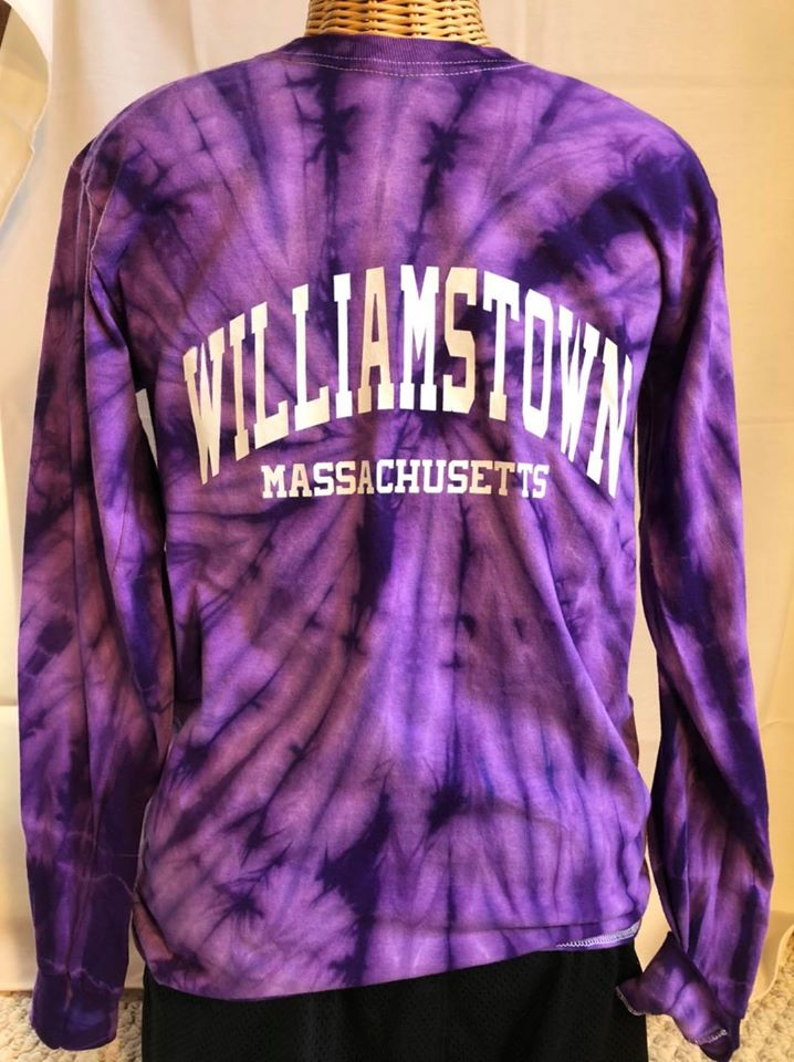 Purple tie dye Williamstown long sleeve  tee