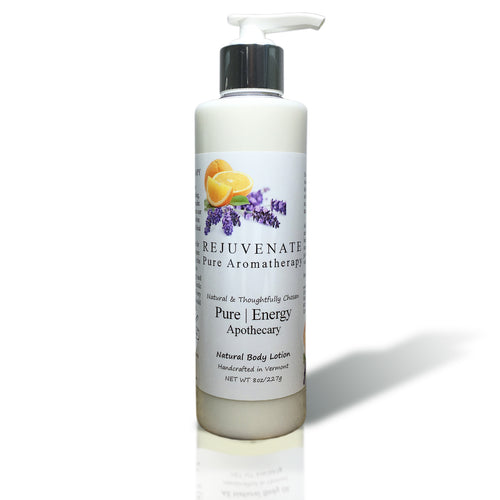 Rejuvenate Natural Hand and Body Lotion 8 Oz (Pure Aromatherapy)