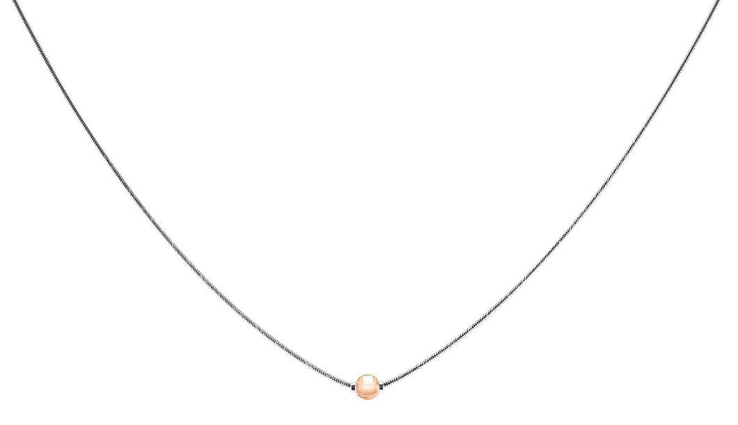 Cape Cod Sterling Silver with Rose Gold Ball 18