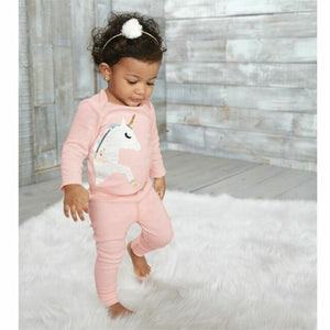 2 piece Unicorn top and legging set