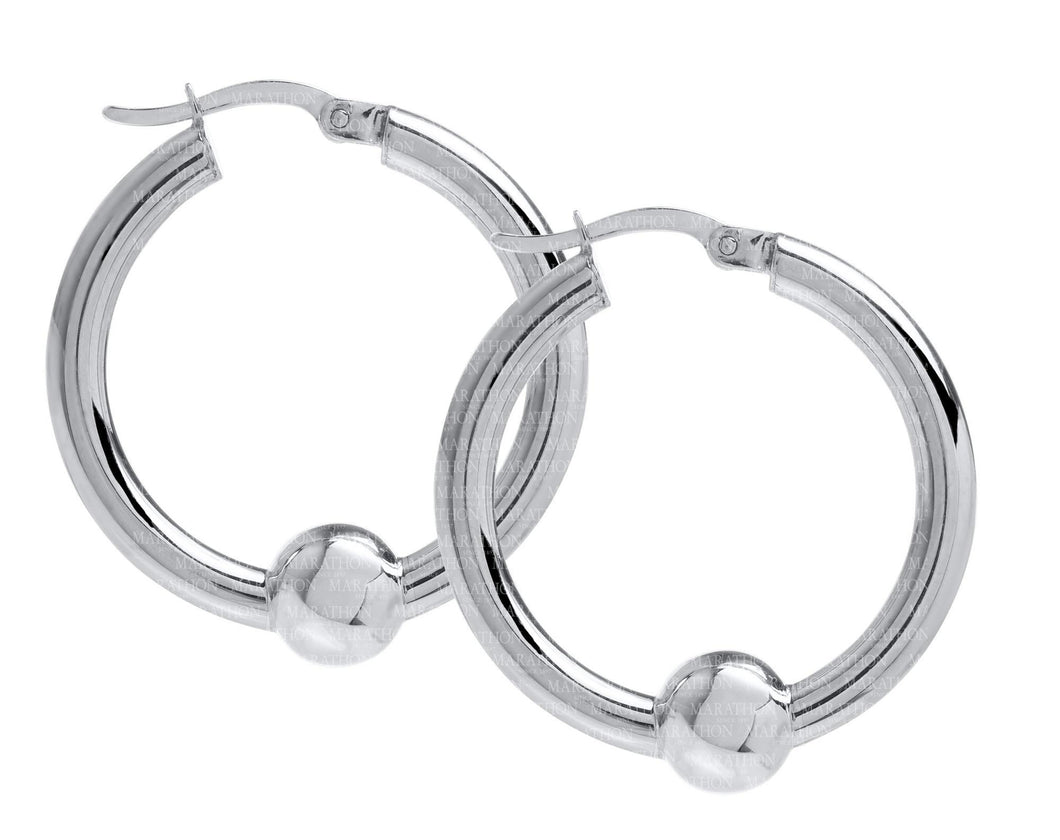 Cape Cod Sterling Silver 25mm Hoop Earring