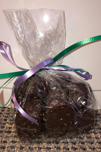 Dark Chocolate Sea Salt Caramels - 1/2 lb bag