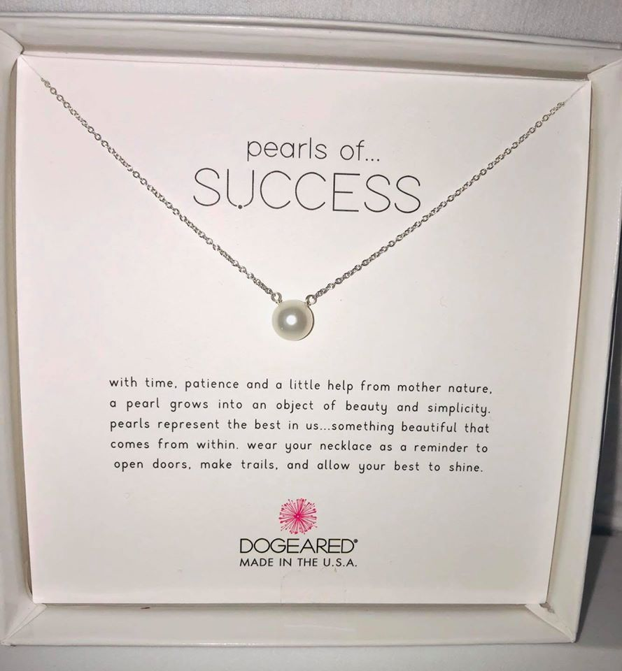 Dogeared Pearls of Success Sterling Silver Necklace
