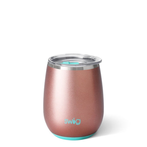 Rose Gold 14oz Stemless Wine Cup