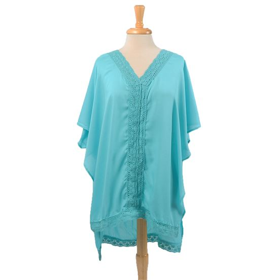 Teal Beach Coverup Poncho