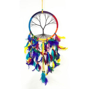 Dream Catcher Rainbow Tree Of Life