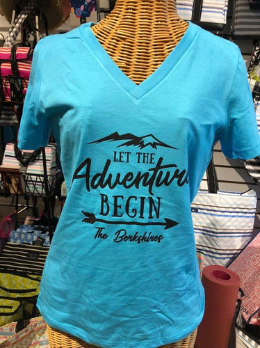 Adventure in The Berkshires V neck relaxed tee